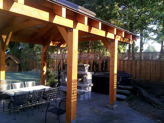 Courtenay Outdoor Fireplace Design by Groundforce